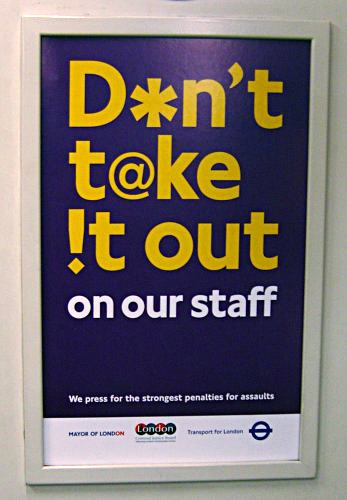 Transport for London anti-aggression signage