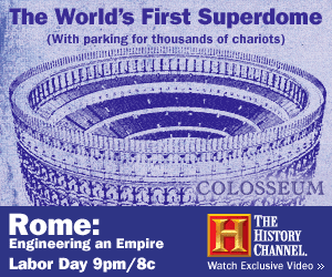 History Channel ad - The World's First Superdome